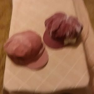 Set of 2 pink velvet newsboy caps